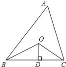 如图,已知△ABC的周长是20,OB和OC分别平分∠ABC和∠ACB,OD⊥BC于点D,且OD=3,则△ABC的面积是( ) A. 20 B. 25 C. 30 D. 35