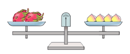 一个桃子重80克,一个火龙果重(__________)克。