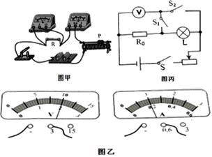 """如图甲是阳阳同学设计的根据欧姆定律测电阻的实验电路。 (1)检查无误后,闭合开关。他将滑片P向左滑动时,电压表示数将_____(选填""""增大""""、""""减小""""或""""不变"""");当P滑到某一位置时,两表读数如图乙所示,由此可知电阻R=_____Ω.你认为这个结果可靠吗?__"""