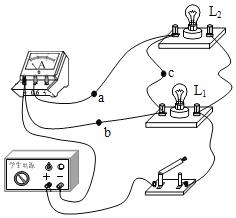 如图所示是小明在练习测量电流时连接的电路,电路的连接存在错误,下列操作及说法正确的是( ) A. 撤掉导线a,电流表测量的是电路的总电流 B. 撤掉导线a,电流表测量的是小灯泡L1的电流 C. 撤掉导线b,电流表测量的是小灯泡L2的电流 D. 撤掉导线c,电流