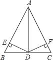 如图,在△ABC中,AB=AC,DE=DF,DE⊥AB,DF⊥AC,垂足分别是E、F.现有下列结论:①AD平分∠BAC;②AD⊥BC;③AD上任意一点到AB、AC的距离相等;④AD上任意一点到BC两端点的距离相等.其中正确结论的个数有( ) A. 1 B. 2