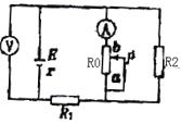 如图所示电路中,当变阻器R0的滑动头P向a端移动时( ) A. 电压表示数变大,电流表示数变大 B. 电压表示数变小,电流表示数变大 C. 电压表示数变大,电流表示数变小 D. 电压表示数变小,电流表示数变小
